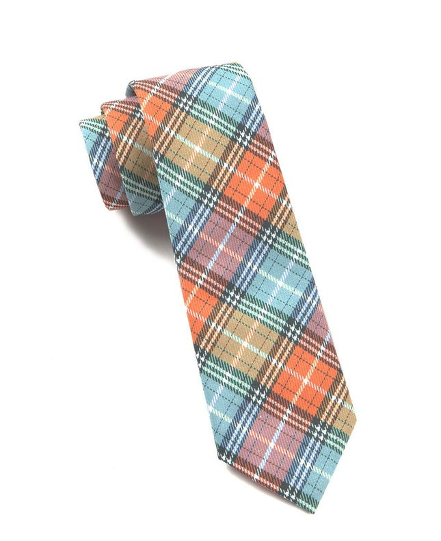 Partridge Plaid Tangerine Tie
