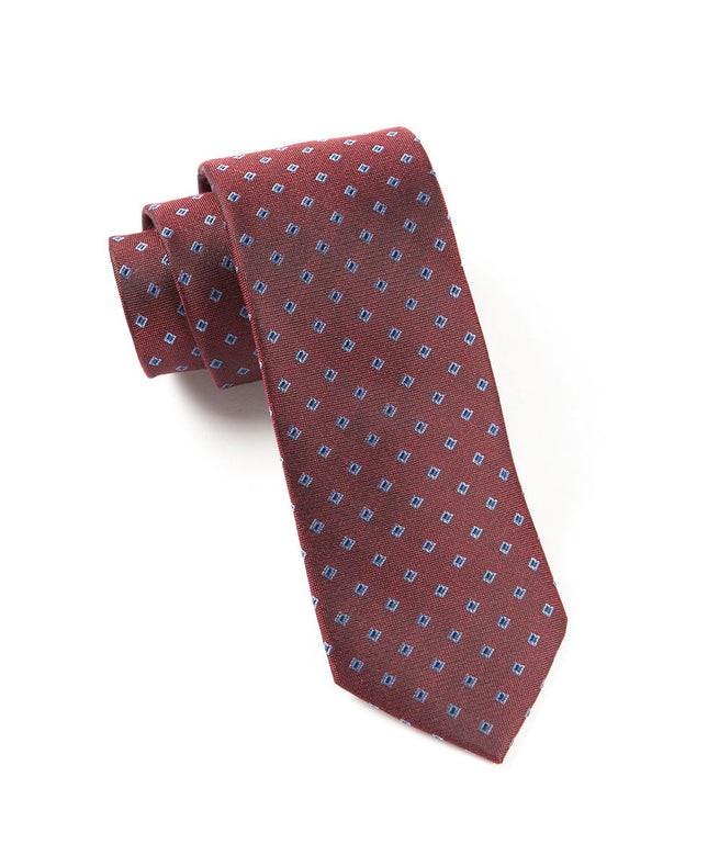 Essex Check Red Tie