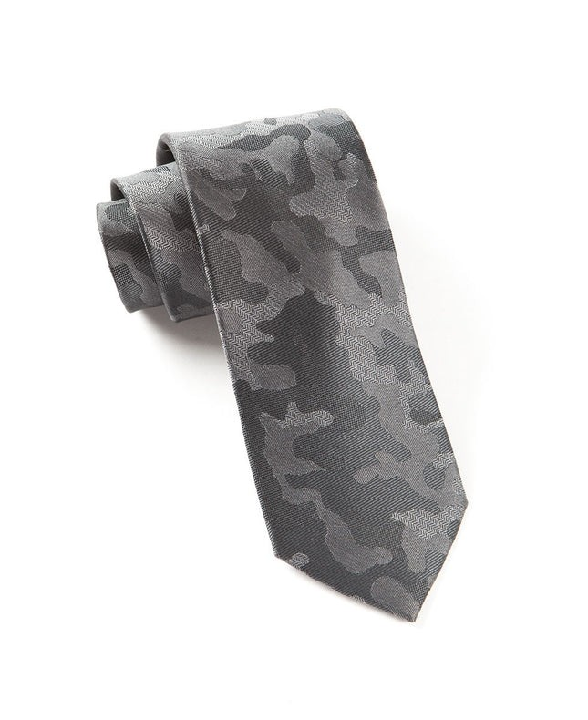 Camo Charcoal Tie