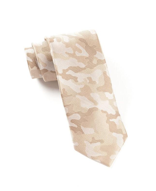 Camo Light Champagne Tie