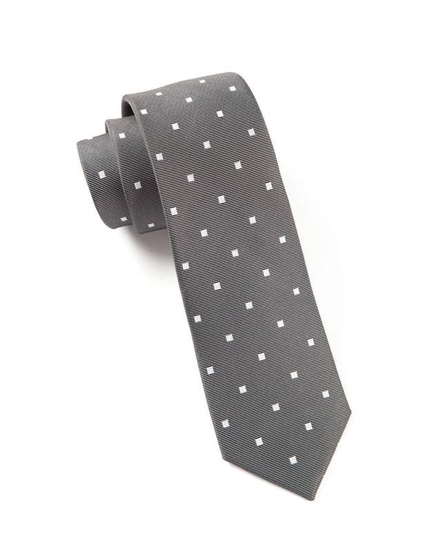 Checks & Balance Charcoal Tie