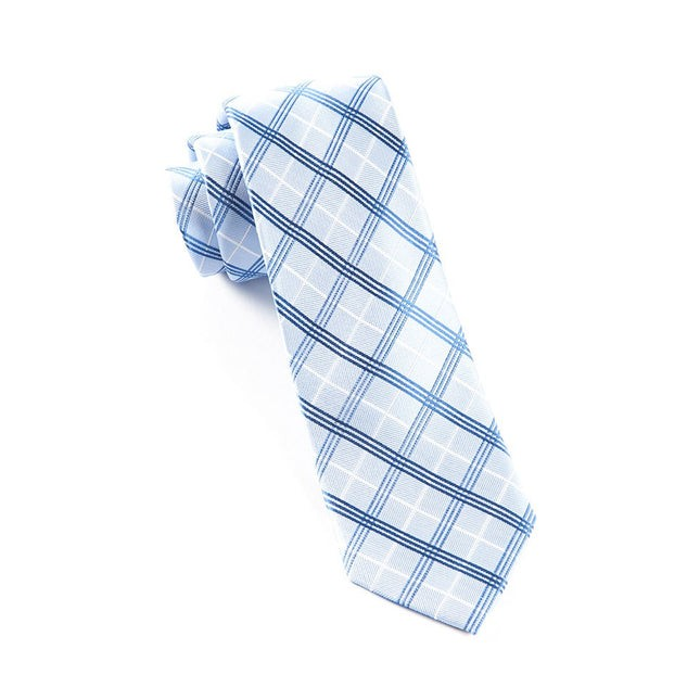 Concord Plaid Carolina Blue Tie