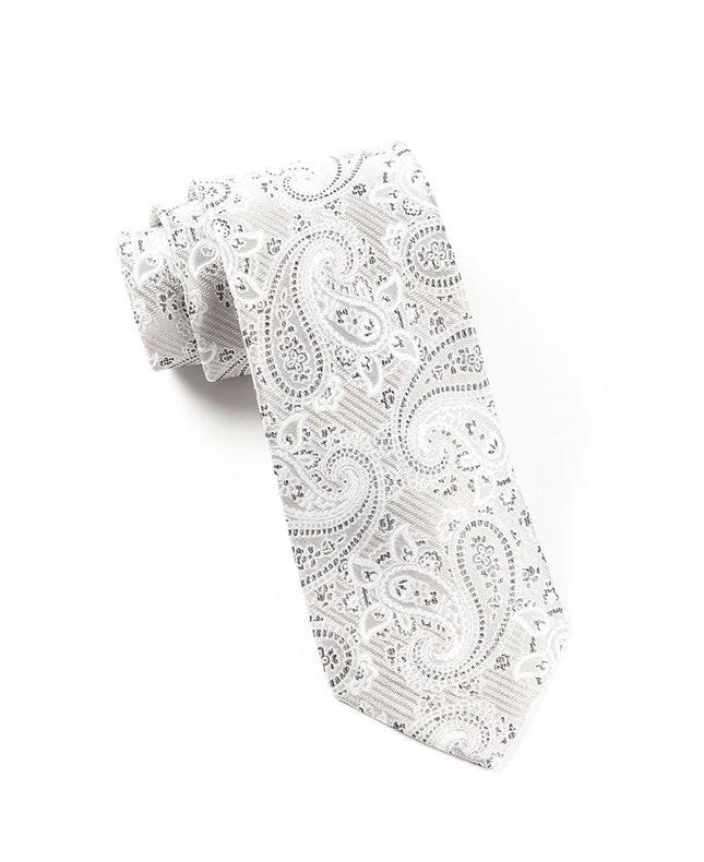 Waltzing Paisley Silver Tie