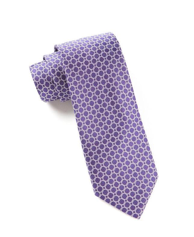Chain Reaction Purple Tie