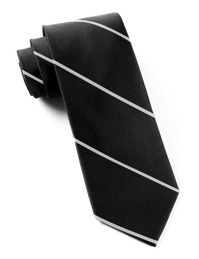 Delta Stripe Black Tie