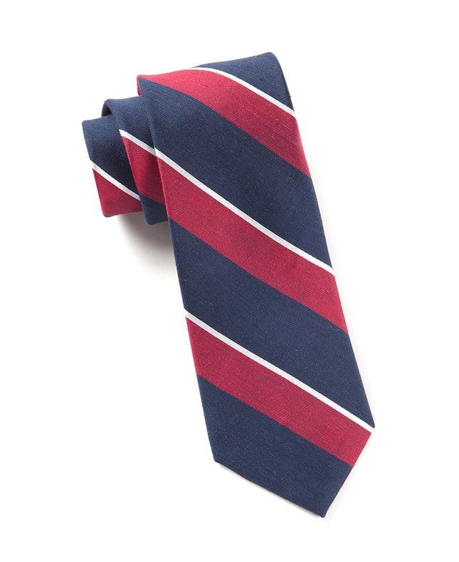 Patina Stripe Red Tie