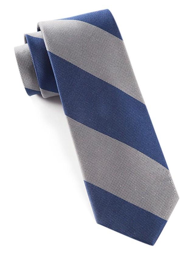 Super Stripe Silver Tie