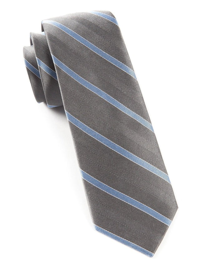 Pipe Dream Stripe Silver Tie