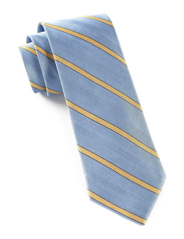 Pipe Dream Stripe Light Blue Tie