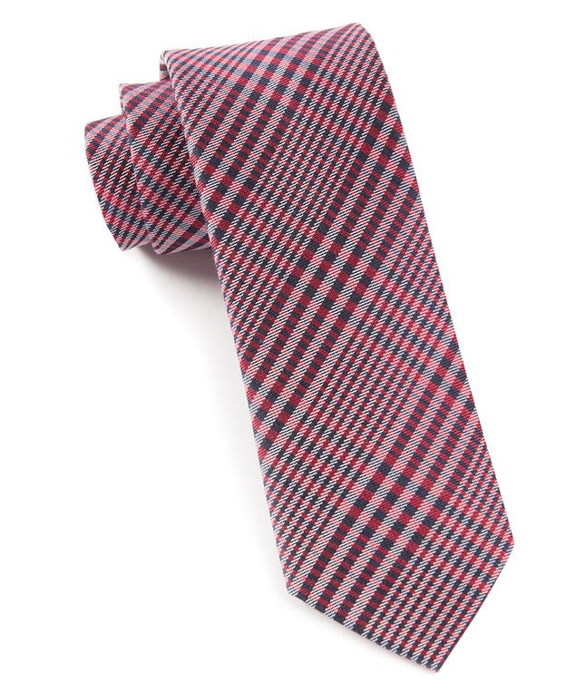 Huntington Plaid Red Tie