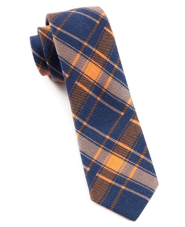 Abbey Plaid Blue Tie