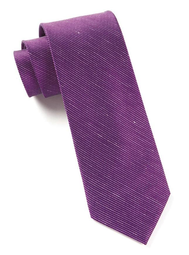 Fountain Solid Deep Azalea Tie