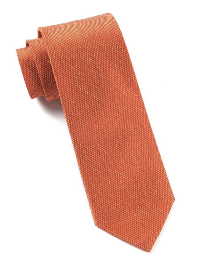 Fountain Solid Orange Tie