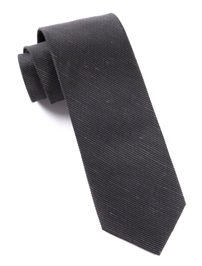 Fountain Solid Black Tie