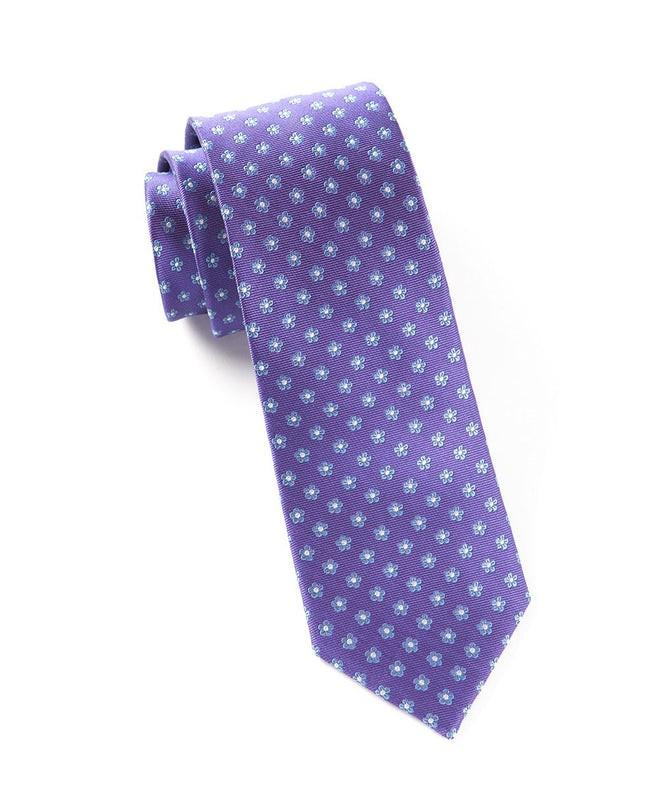 Anemones Purple Tie