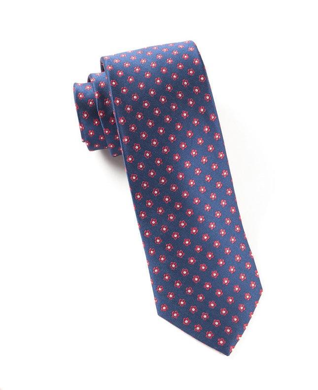 Anemones Navy Tie