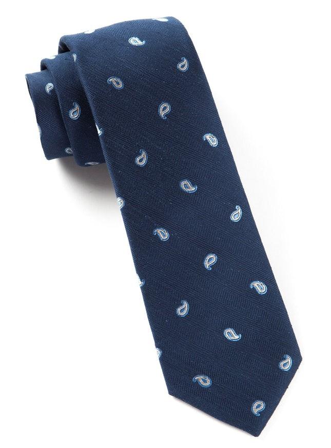 Subtle Paisley Navy Tie