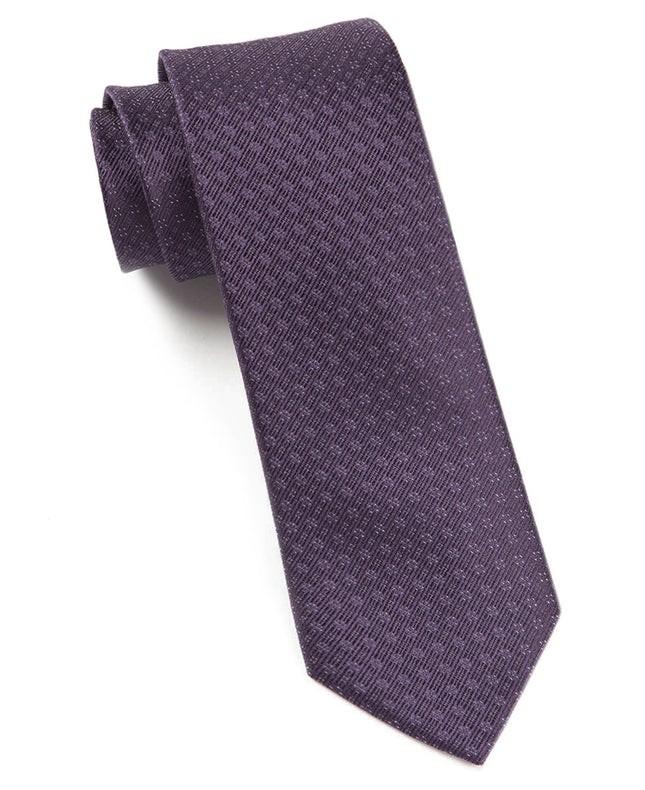 Speckled Eggplant Tie