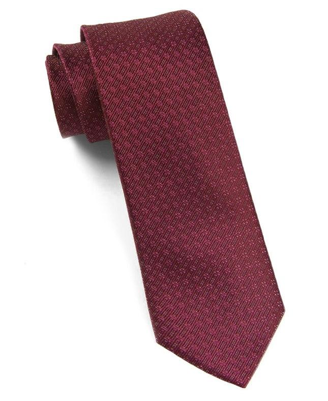 Speckled Burgundy Tie
