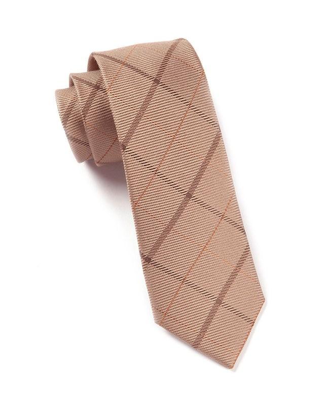 Sheridan Plaid Tan Tie