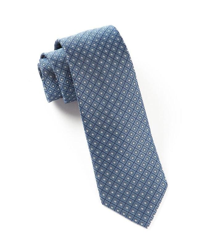 Wacker Drive Checks Blue Tie