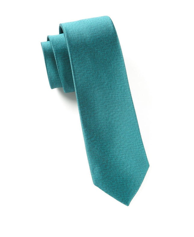 Melange Twist Solid Green Teal Tie