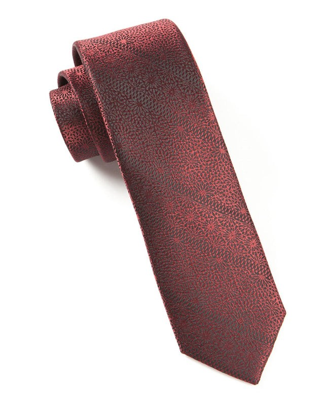 Interlaced Burgundy Tie