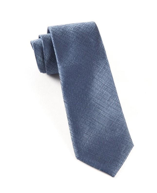 Debonair Solid Slate Blue Tie