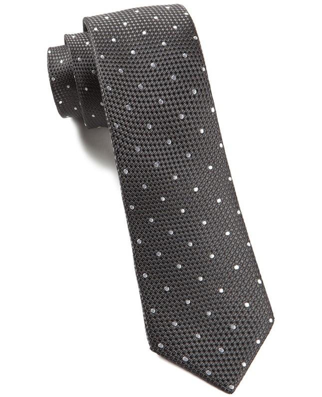 Grenafaux Dots Bullet Grey Tie