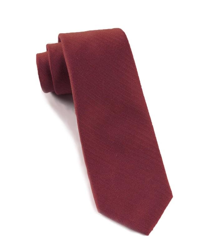 Astute Solid Burgundy Tie