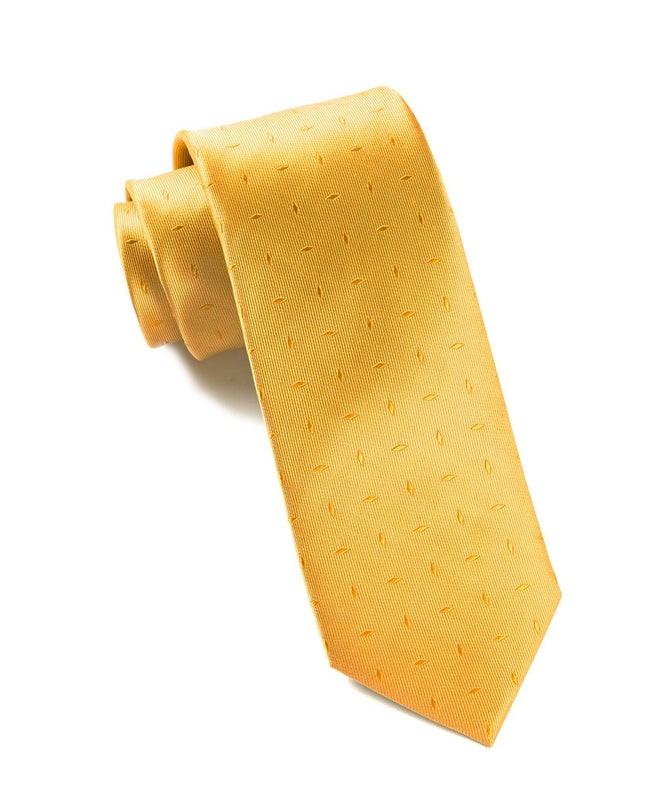 Industry Solid Mustard Tie