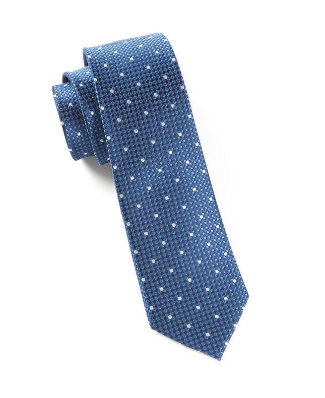 Vinyl Dots Blue Tie