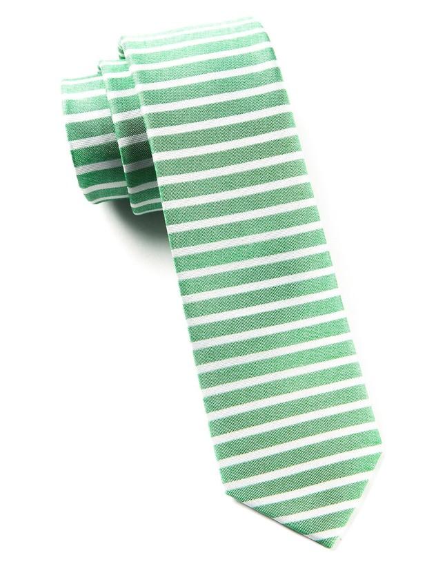 Unity Stripe Apple Green Tie