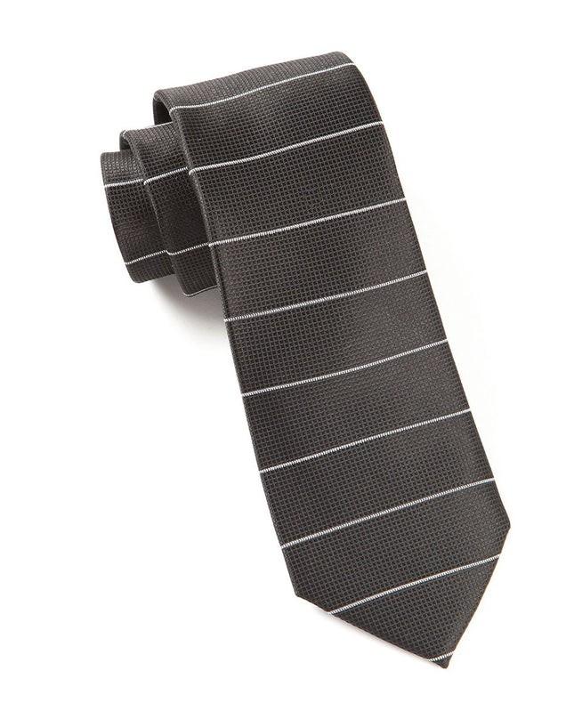 Institute Stripe Black Tie