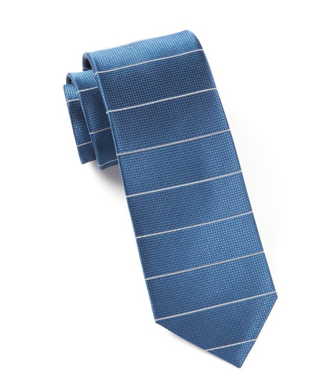 Institute Stripe Blue Tie