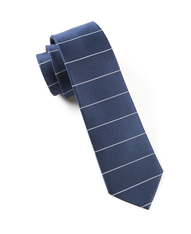 Institute Stripe Navy Tie