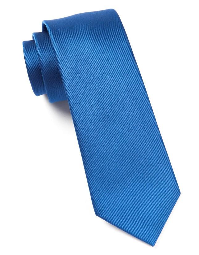 Grosgrain Solid Classic Blue Tie