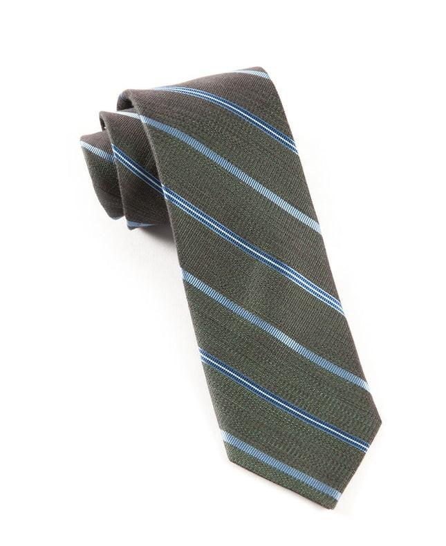 Editor Stripe Dark Green Tie