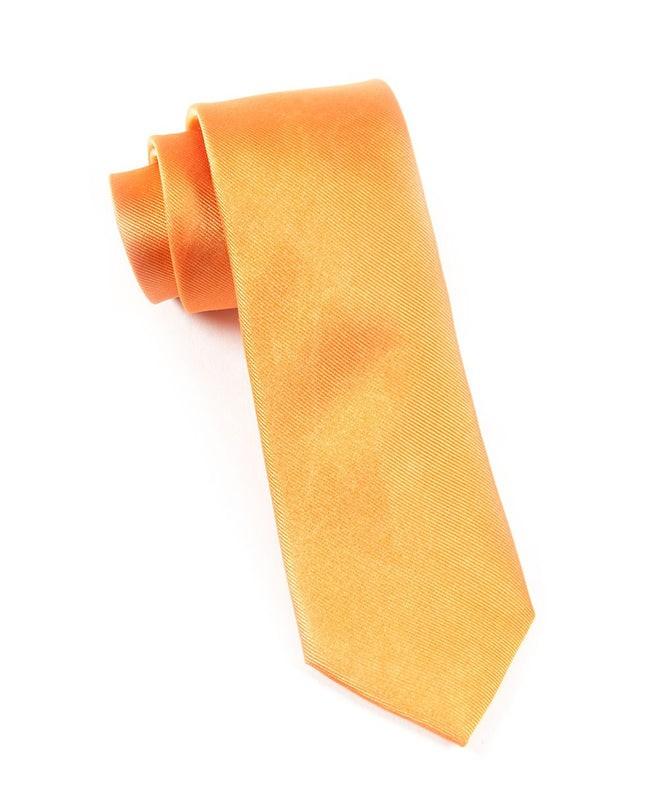 Grosgrain Solid Orange Tie
