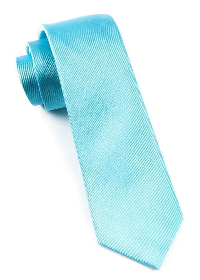 Grosgrain Solid Aquamarine Tie