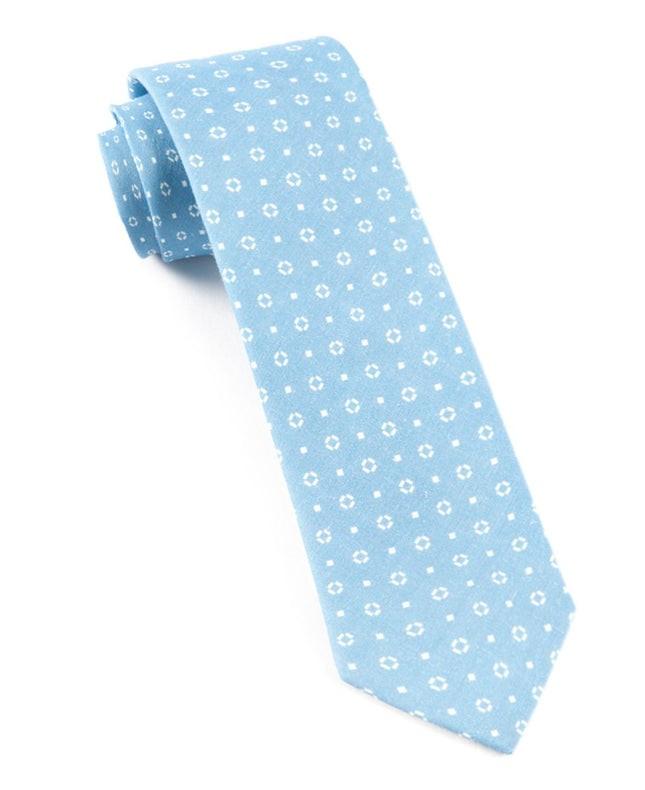 Geo Scope Sky Blue Tie