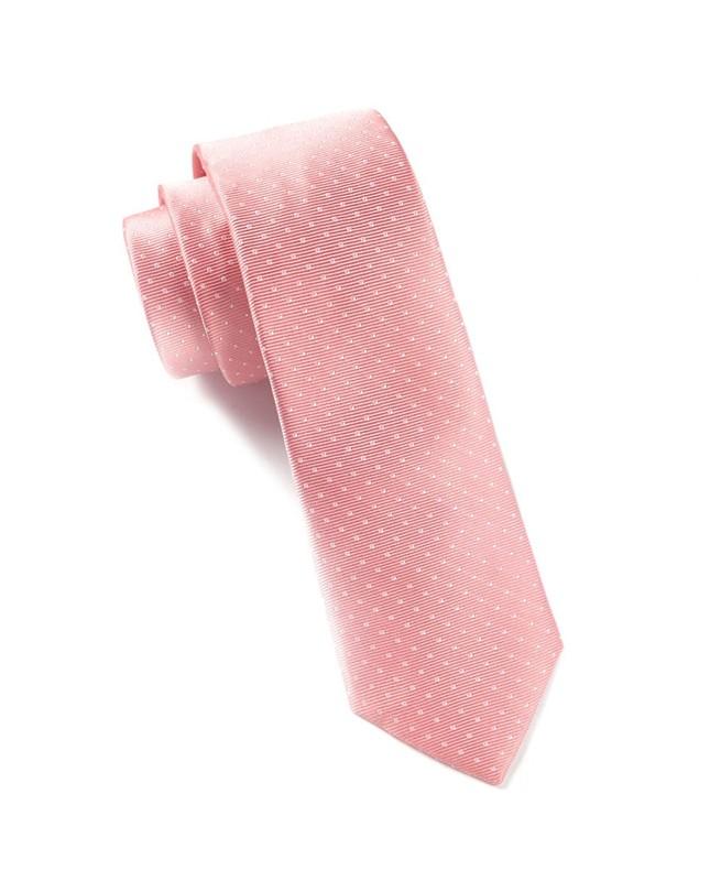 Mini Dots Salmon Pink Tie