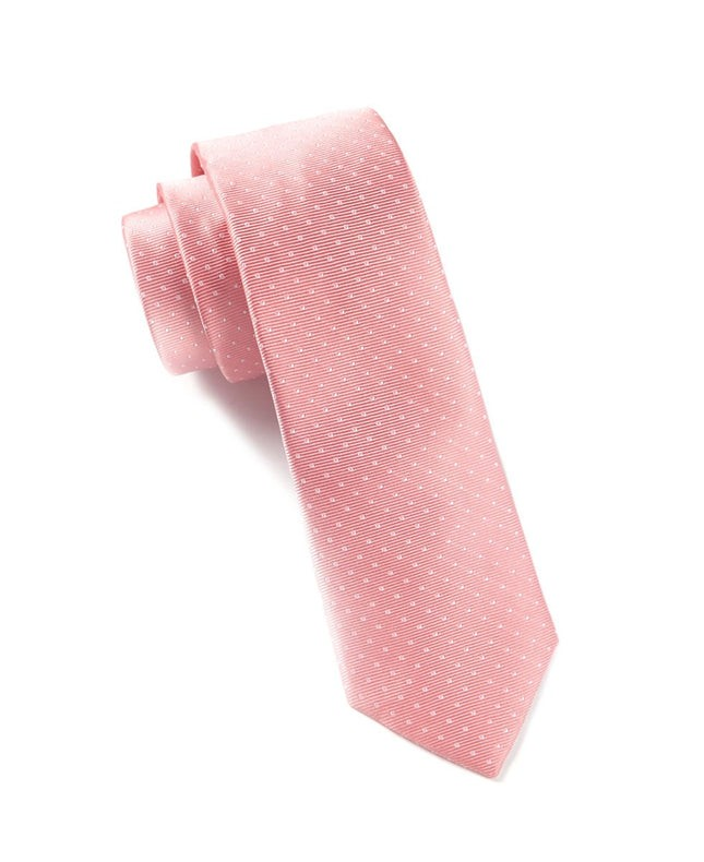 Mini Dots Salmon Pink Tie