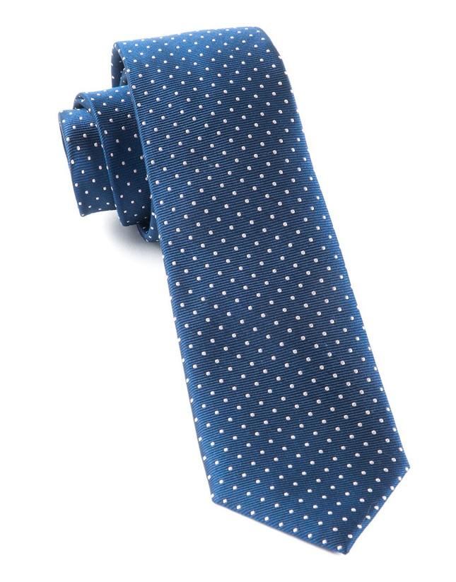 Mini Dots Classic Navy Tie