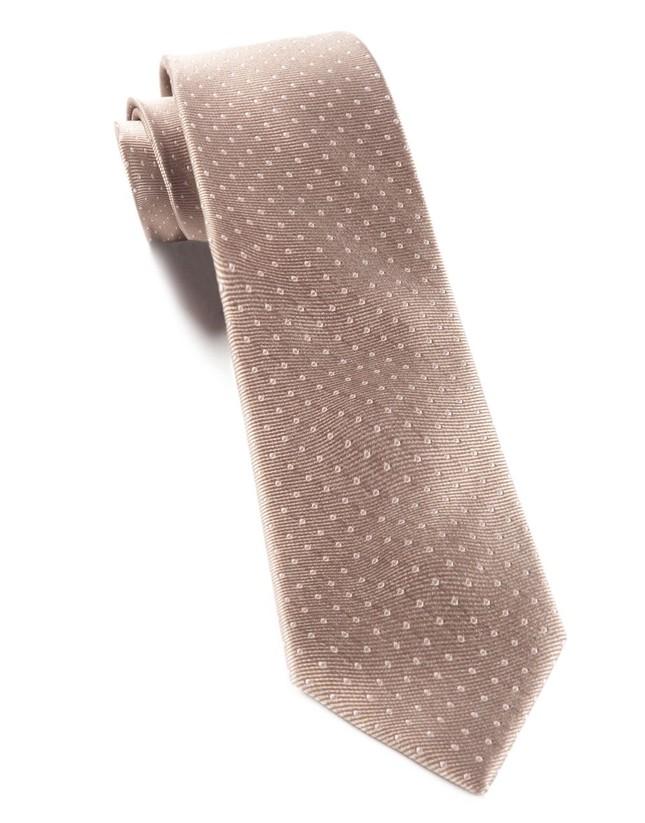Mini Dots Champagne Tie