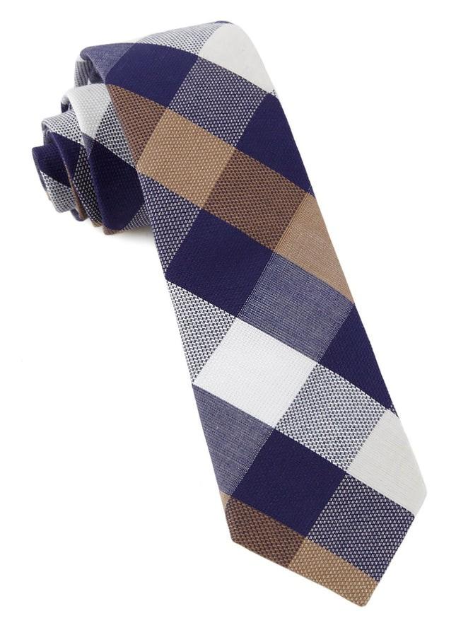 Courtside Check Blue Tie