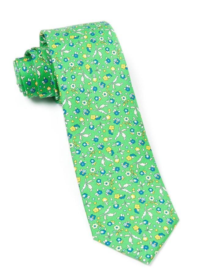 Fentone Floral Kelly Green Tie