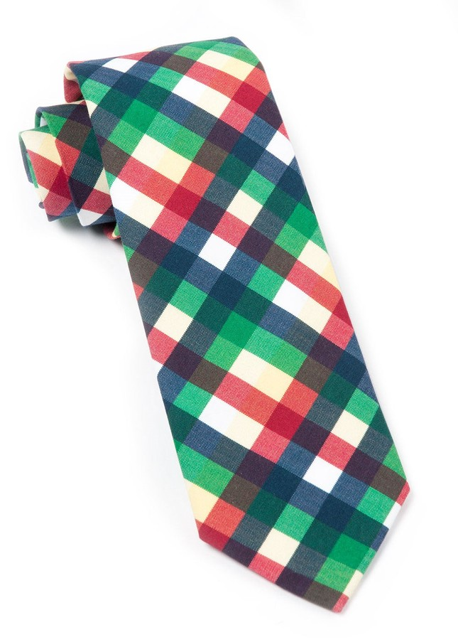 Acoustic Check Green Tie