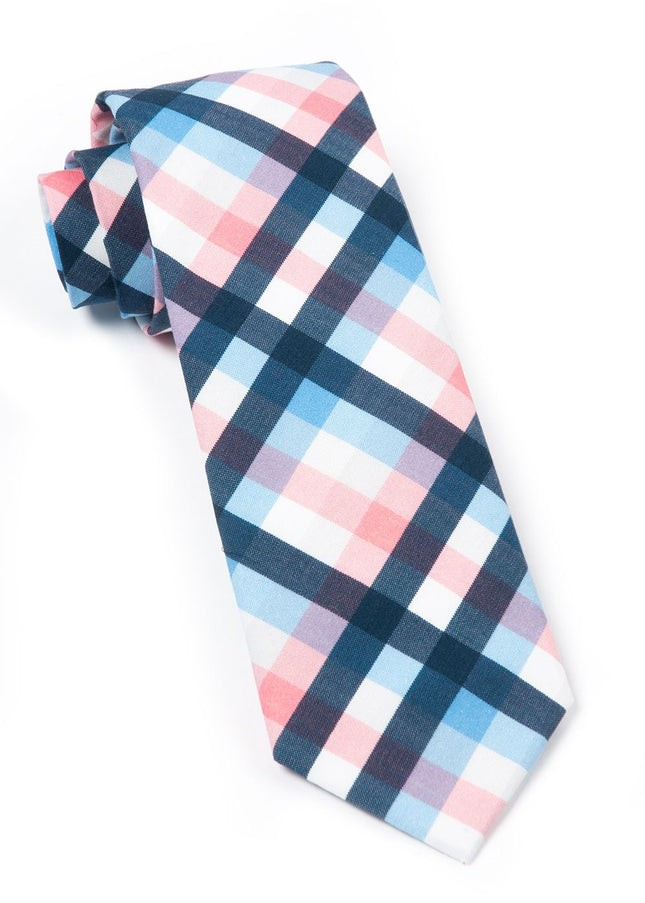 Acoustic Check Pink Tie