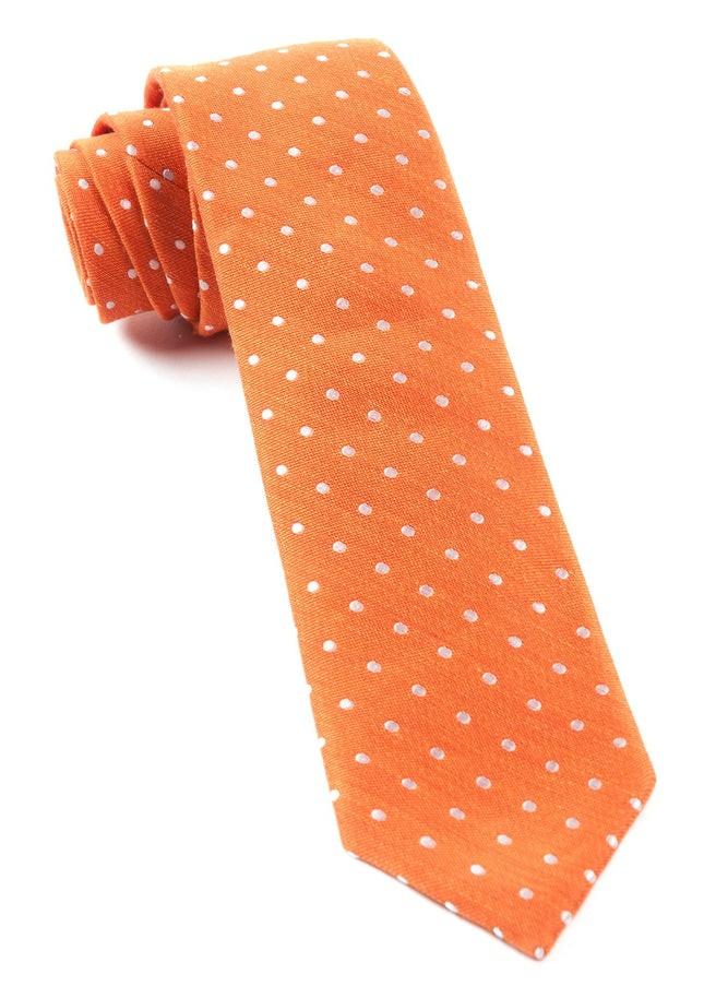 Dotted Dots Orange Tie